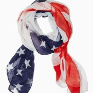 Charming Charlie Stars and Stripes Oblong Scarf
